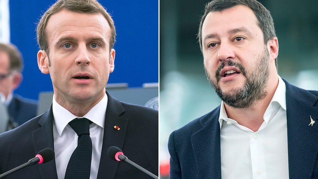 Emmanuel Macron Matteo Salvini 1100x620