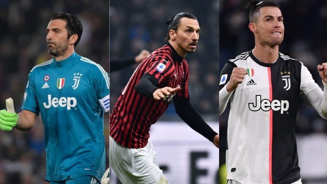 Buffon Ibrahimovic Ronaldo Milan Juventus 1100x620