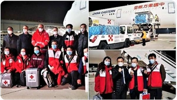 Mjekët kinezë zbarkojnë në Itali, së bashku me 30 ton pajisje mjekësore