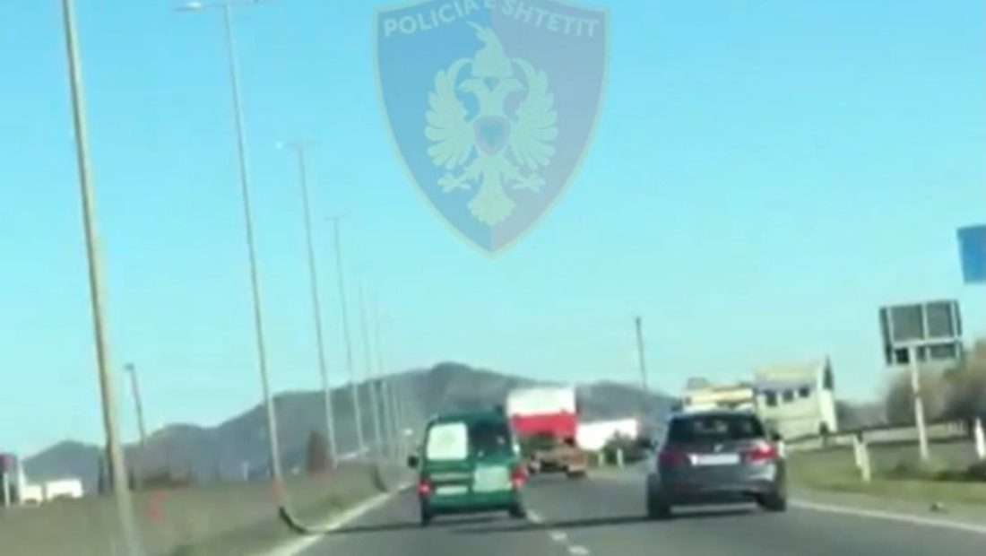 Policia ndjekje ne Tirane Durres autostrada 1100x620