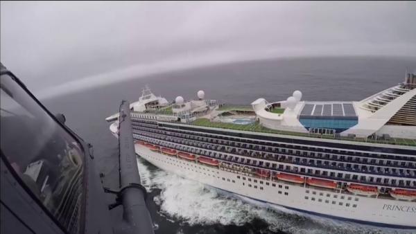 """""""Karantina"""" gjigante në mes të oqeanit, testi për koronavirus vjen me helikopter"""