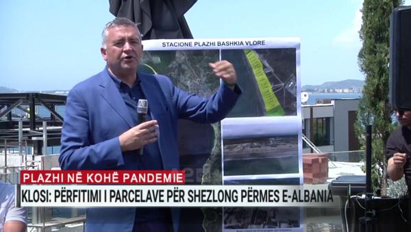Plazhi në kohë pandemie, Klosi: Përfitimi i parcelave për shezlong, përmes e-Albania