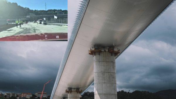 Rindërtohet ura e Gjenovës, makina e parë përshkon strukturën 1 km të gjatë