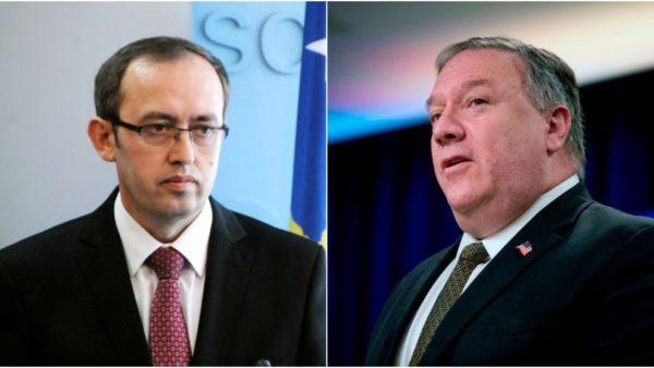 Pompeo i shkruan Hotit: SHBA mbështet përmbylljen e dialogut me njohje reciproke