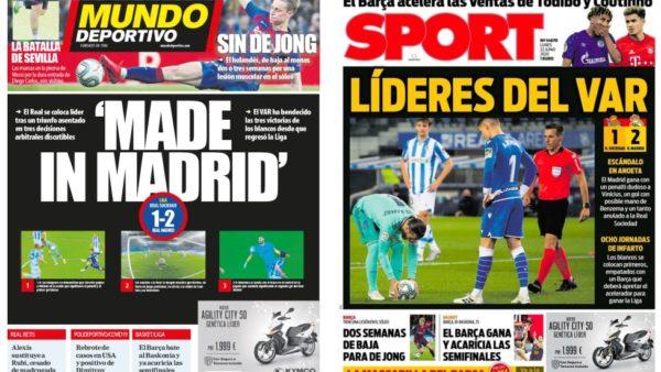 """""""Kryesues të VAR-it"""", tërbohen mediat katalanase pas fitores së Real Madrid"""