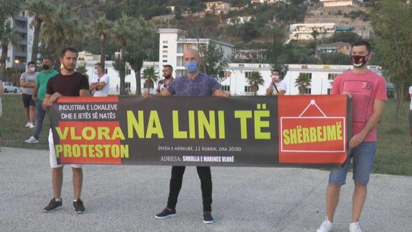 Vlorë, protestë për mbylljen e klubeve të natës dhe ndalimin e muzikës