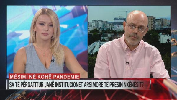 Mësim në kohë pandemie, Mehmeti: Plani është kaotik, nuk di si do të mbarojë shkolla në orën 12 të natës