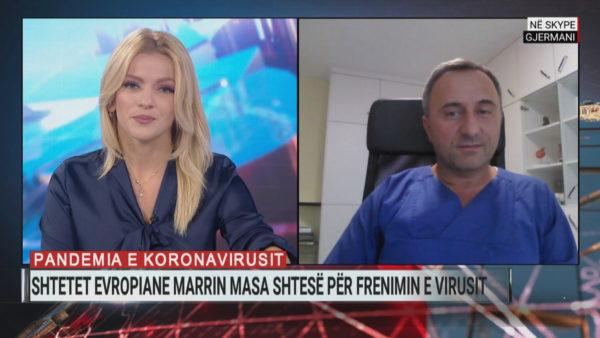 Mjeku shqiptar në Berlin: Gjermania jo në situatë alarmi nga koronavirusi, 40% e rasteve të importuara