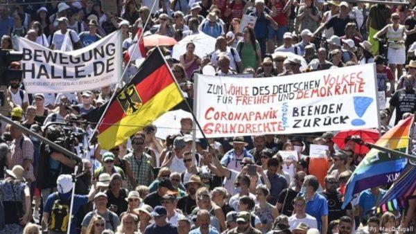 Protesta kundër kufizimeve, gjermanët: Shkelje e të drejtave, dëmi social e ekonomik