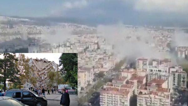 Tërmeti në Turqi në foto, me dhjetëra ndërtesa të shembura, shumë të bllokuar nën rrënoja
