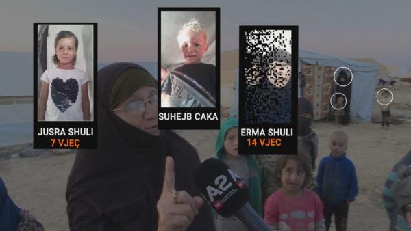 """Eva Dumani ende në Al-Hawl, A2 """"zbërthen"""" çadrën e jetimëve në kamp"""
