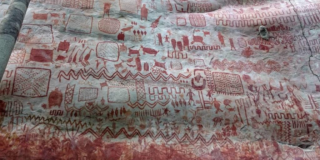 Në një zonë të izoluar të Amazonës, zbulohet dëshmia e rrallë e artit prehistorik