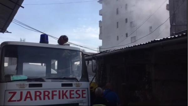 Rrjedh bombola e gazit, përfshihet nga flakët dyqani në tregun e Pogradecit