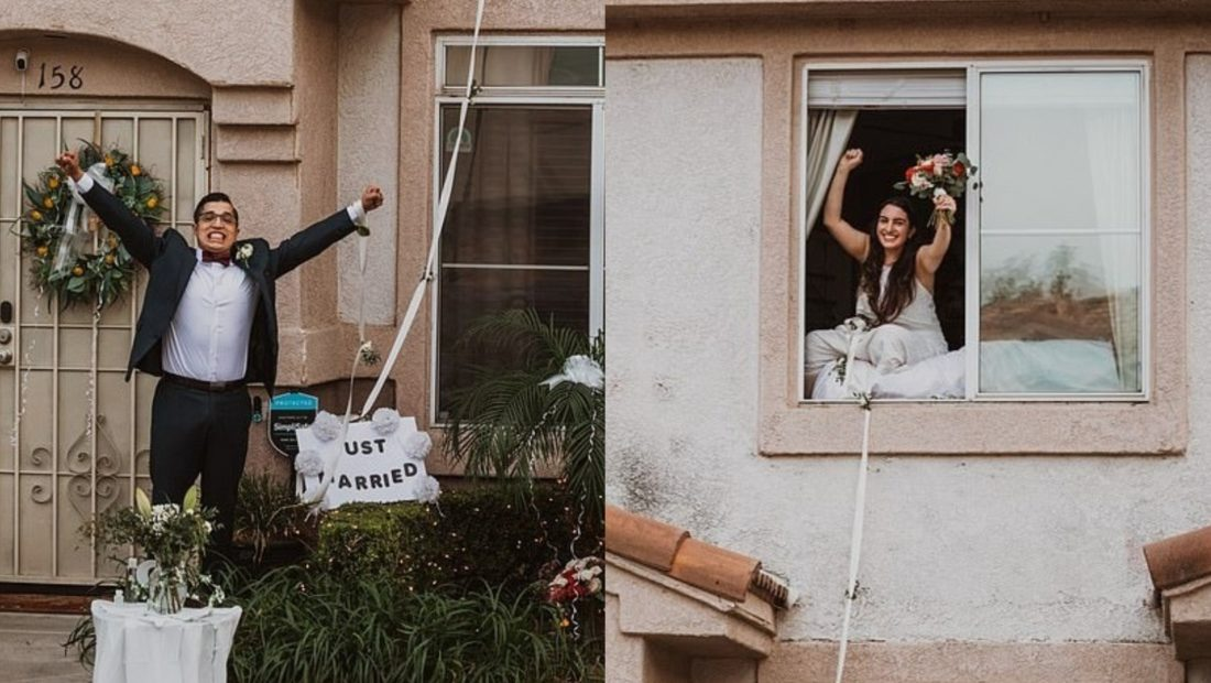 Nusja me Covid-19, martohet nga dritarja – A2 CNN
