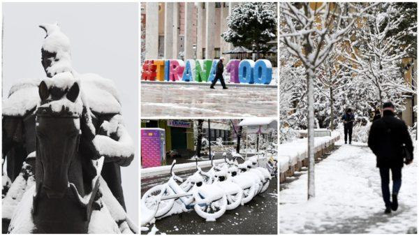 Deri në 10 cm borë në kryeqytet, fenomen shumë i rrallë për Tiranën e pas viteve '90