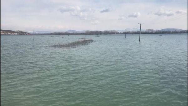 Nënshkodra nën ujë, lumi Drin dhe liqeni mbi nivelet maksimale