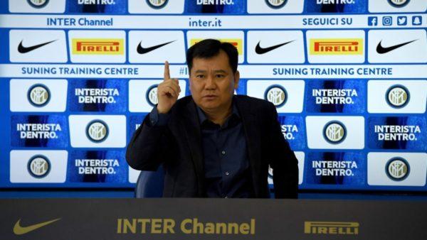 Frikë tek Inter, Suning në krizë, Zhang: Ndërpresim aktivitetet jofitimprurëse