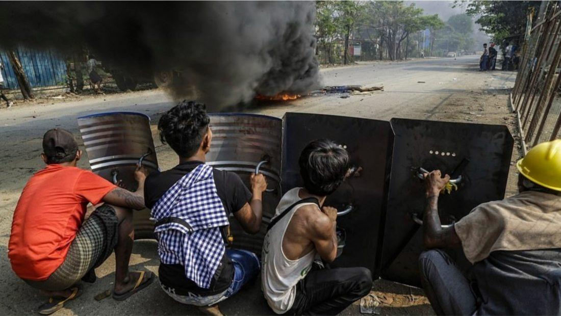 Protesta te dhunshme ne mjanmar grusht shteti te vrare nga junta ushtarake 1100x620
