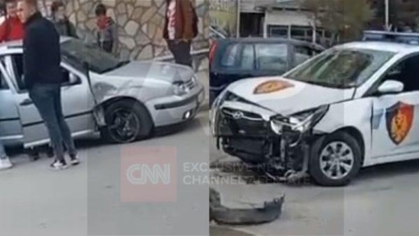 Durrës, përfshihet në aksident makina e Policisë