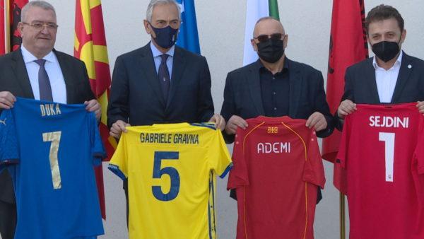 Garon për ekzekutivin e UEFA, kreu i futbollit italian Gravina, takim me Presidentët shqiptarë
