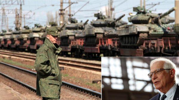 Përfaqësuesi i Lartë i BE-së: Rusia po përqendron 150 mijë ushtarë në kufirin me Ukrainën