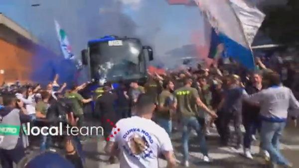 Inter, festa e titullit me tifozë