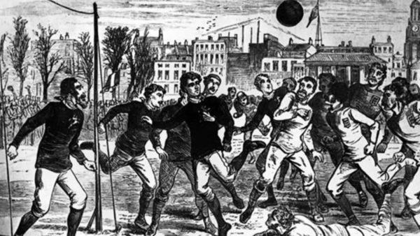 Angli-Skoci, ndeshja e parë e futbollit mes dy ekipeve kombëtare, e luajtur në një fushë kriketi