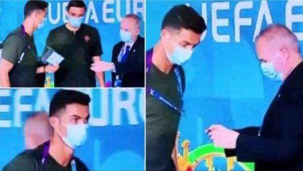 Nuk njeh Cristiano Ronaldon në stadium dhe i kërkon mjetin e identifikimit