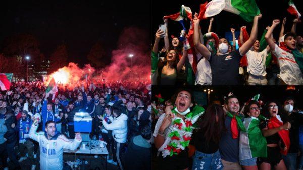 Rrëmbyen trofeun, natë magjike për italianët, festime dhe alkool deri në mëngjes