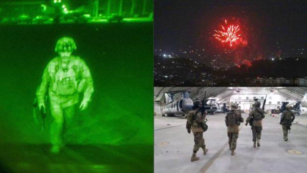 """Ikën ushtari i fundit amerikan, talebanët bëjnë inventarin e """"plaçkës së luftës"""" dhe hedhin fishekzjarrë"""