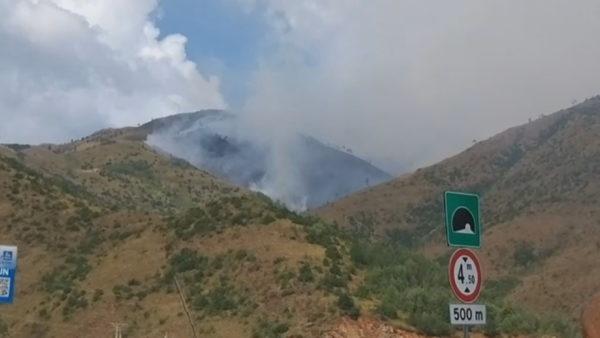 Kukës, situata e zjarreve, shiu nuk arriti të shuajë plotësisht vatrat