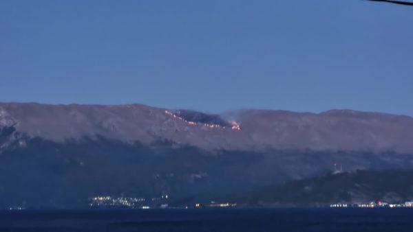 Riaktivizohet zjarri në Malin e Thatë, flakët përhapen në Parkun e Galiçicës