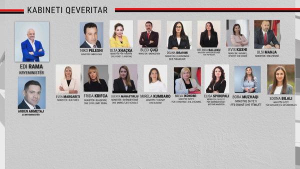 """Qeveria """"Rama 3"""": Ahmetaj zv/kryeministër, Lindita Nikolla kryetare Kuvendi"""