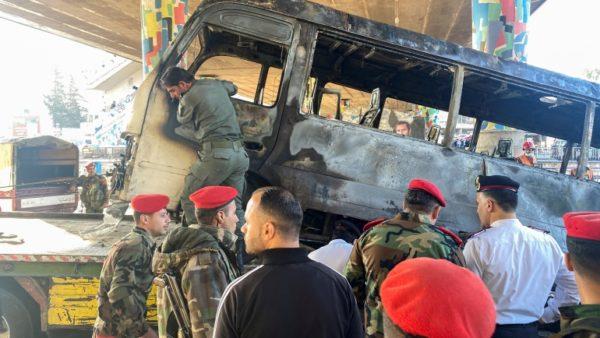 Në shënjestër autobusi ushtarak, 13 viktima në Damask