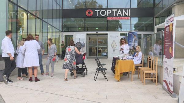 Matja falas e glicemisë dhe tensionit në Toptani Shopping Center, ndihmë për banorët e Tiranës